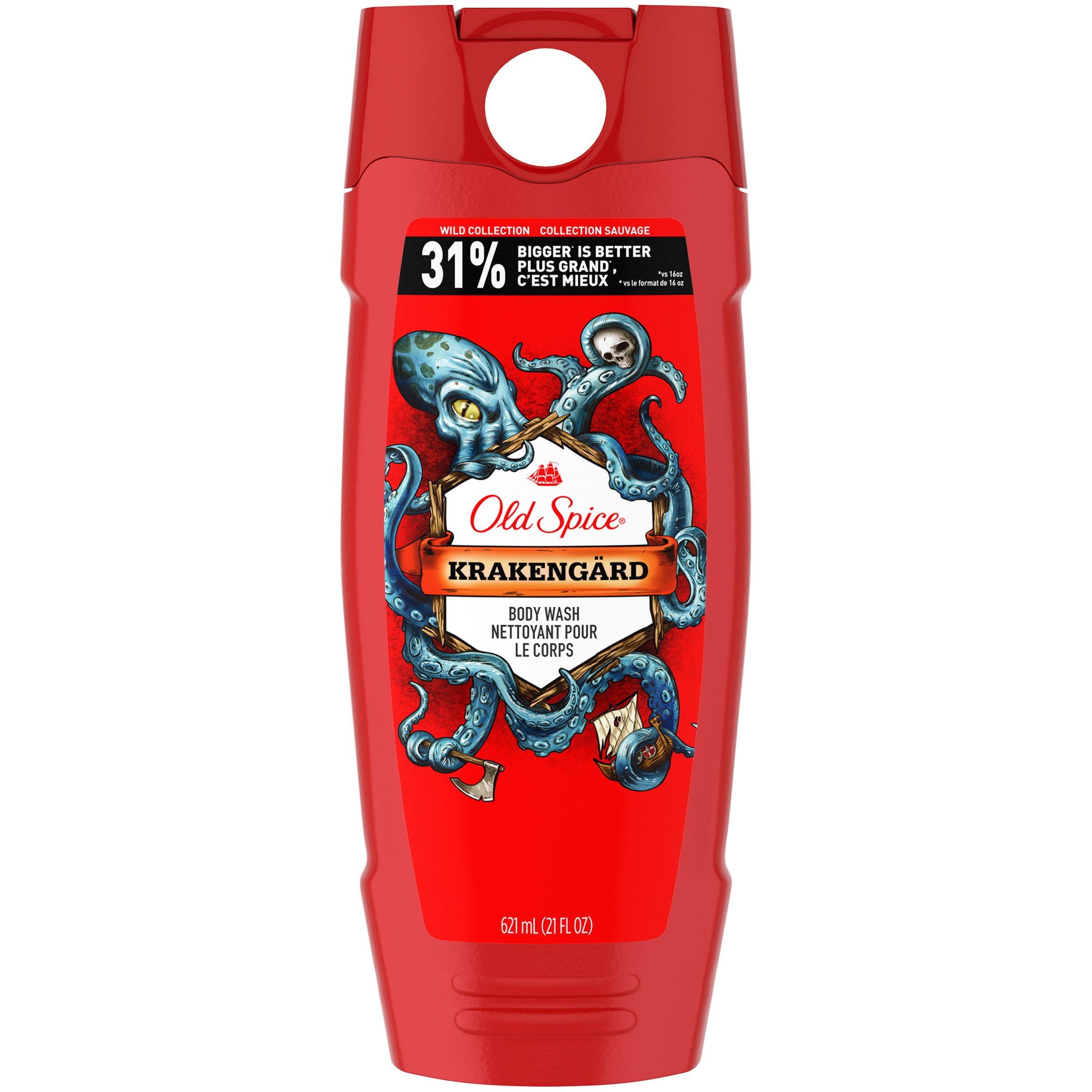 Old Spice Wild Krakengard Scent, Body Wash for Men, 21 Oz