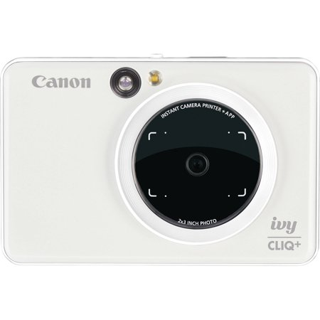 Canon IVY Cliq+ Instant Digital Camera Printer + App via Bluetooth (Pearl -