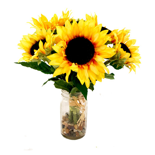 Creative Displays, Inc. Sunflower Bouquet Mason Jar