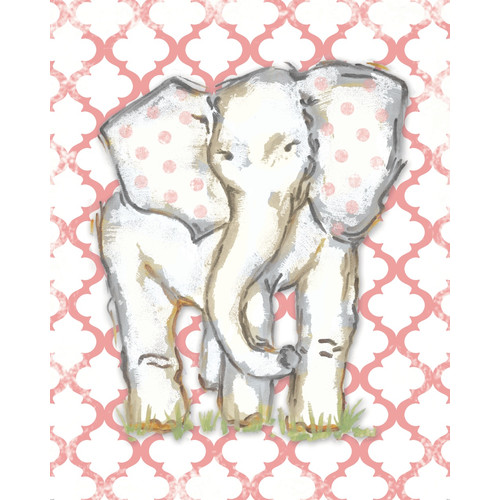 Renditions by Reesa Moroccan Elephant Coral Wall Plaque