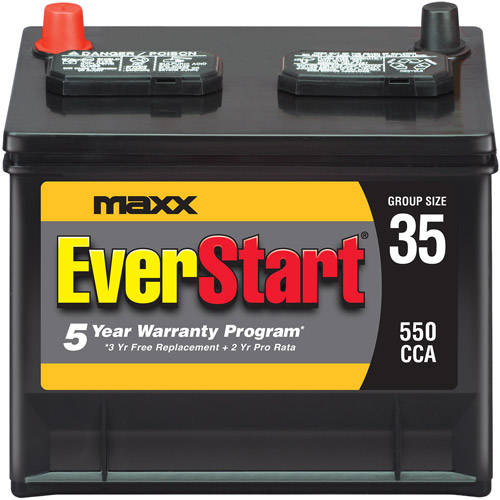 Walmart Car Battery Warranty >> EverStart Maxx Lead Acid Automotive Battery, Group 35s - Walmart.com