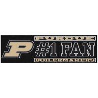 """Purdue Boilermakers 3"""" x 10"""" #1 Fan Die Cut Decal"""