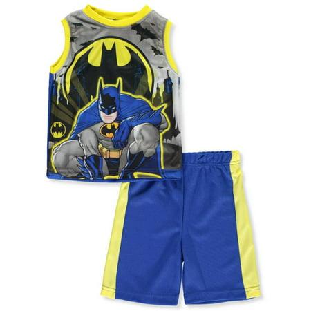 Batman Boys' 2-Piece Shorts Set Outfit](Batman Dressing Up Outfit)