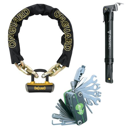 Onguard Beast Chain Bike Lock with X4 Padlock (11cm x 14mm) with Tool and