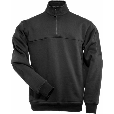 1/4 Zip Job Shirt, Black