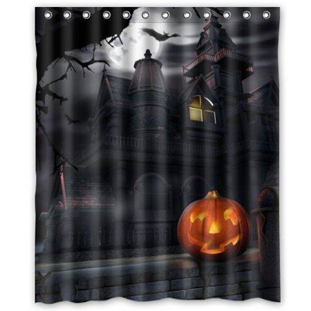 Ganma Happy Halloween Hanted House Shower Curtain Polyester Fabric Bathroom Shower Curtain 60x72 inches](Gacha Halloween)