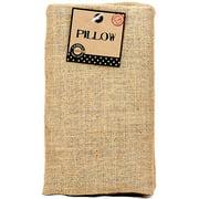 """Burlap Pillow Rectangle 10"""" x 18"""", Natural"""