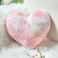 "Phantoscope Pink Heart Shape Decorative Throw Pillow, 12"" x 12"""