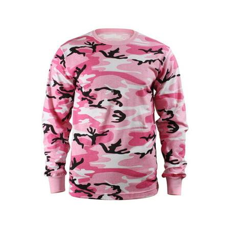 f128ca129 Rothco - Kids Long Sleeve Camouflage T-shirt, Pink Camo - Walmart.com