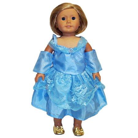 Blue Dress for 18 Inch Dolls