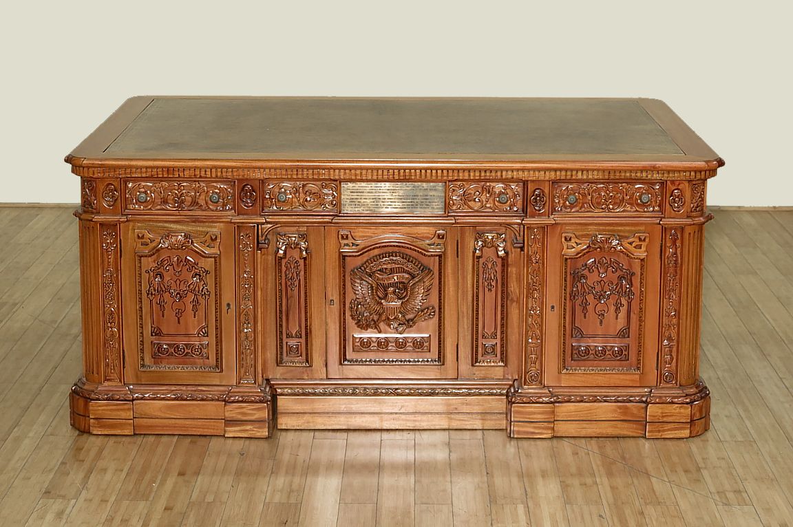 oval office resolute desk. 6Ft Solid Natural Mahogany Presidential Oval Office Resolute Desk 0