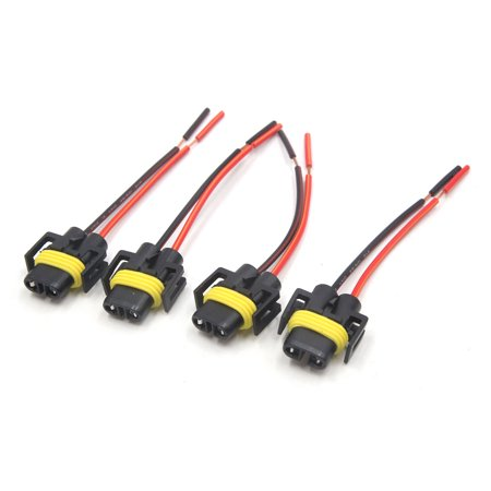 dodge d350 wiring harness 4 pcs h11 holder wiring harness socket wire headlight fog ... wiring harness holder #11