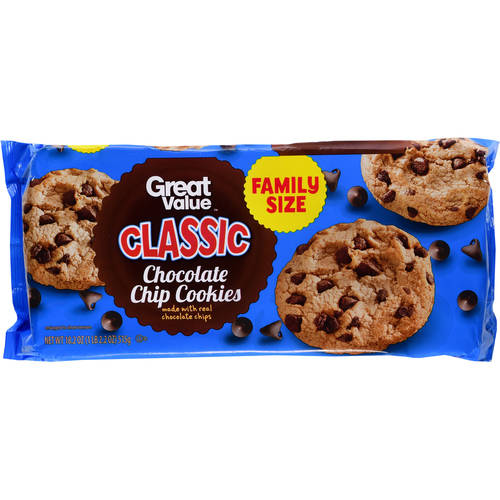 Great Value Classic Chocolate Chip Cookies, 18.2 oz