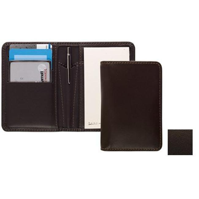 Raika TN 128 BROWN Card Note Case with Pen - Brown
