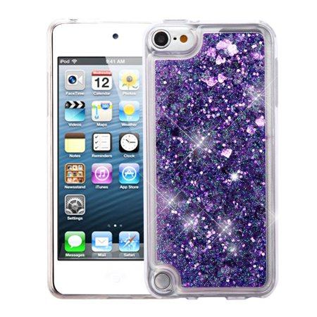 iPod Touch 6th Generation Case, iPod Touch 5th Generation Case, by Insten Quicksand Glitter Hard Plastic/Soft TPU Rubber Case Cover For Apple iPod Touch 5th Gen/6th Gen, Purple (5th Grade Class Halloween Party Ideas)