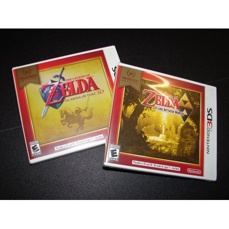 NINTENDO 3DS - 2 GAME DEAL- ZELDA: OCARINA OF TIME+ ZELDA: A LINK BETWEEN