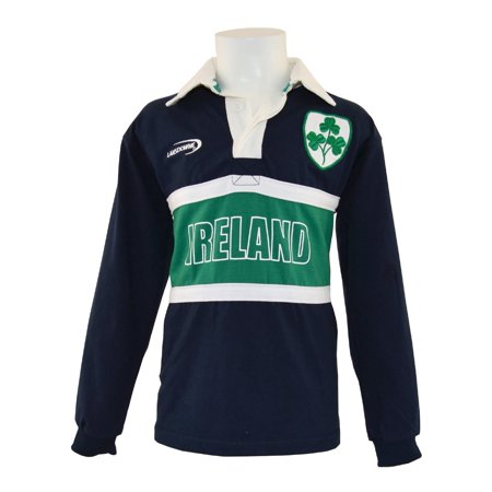 Long Sleeved Solid Rugby - Navy Ireland 3 Shamrock Long Sleeve Kids Rugby Top