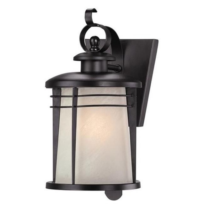 Westinghouse 6674100 Senecaville One Light Outdoor Wall Lantern, Weathered Bronze