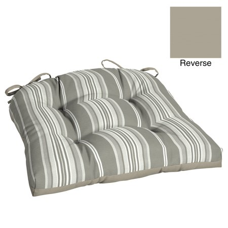 Better Homes & Gardens Gray Stripe 18 x 20 in. Outdoor Wicker Chair Cushion with EnviroGuard