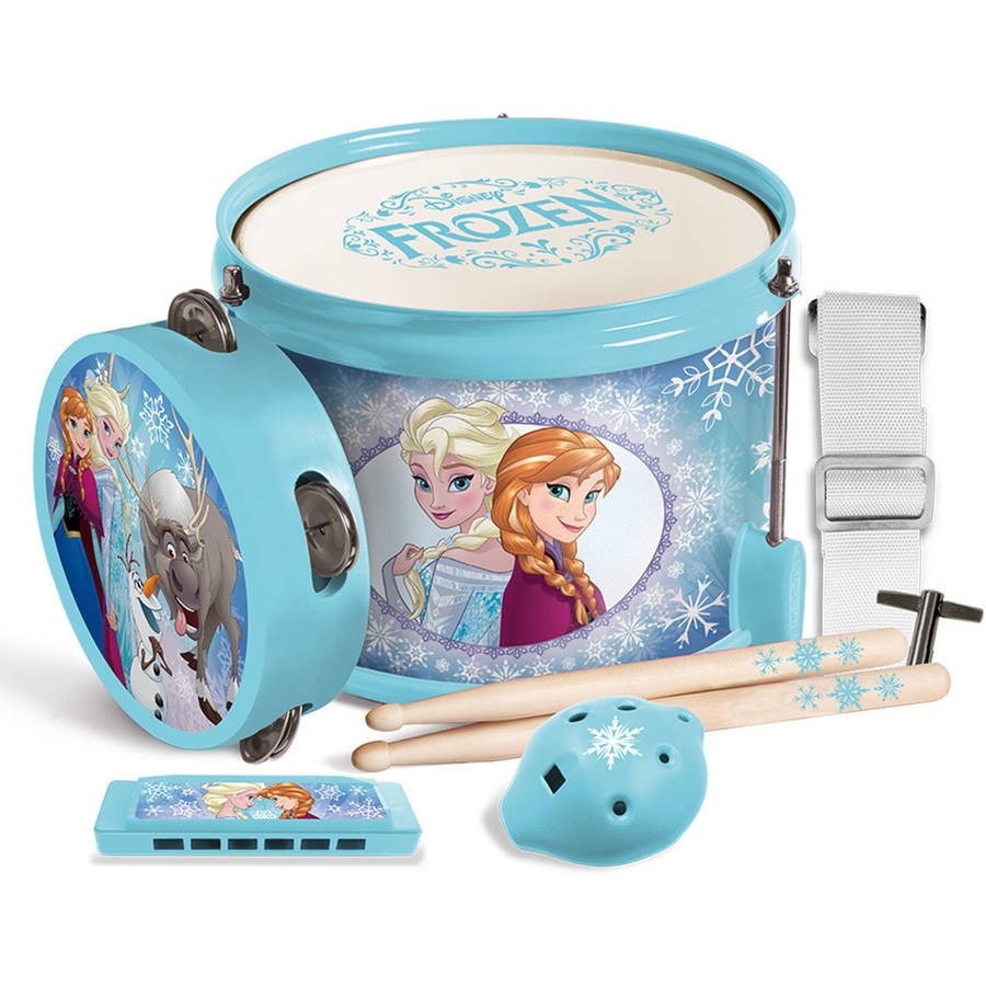 Frozen Fun In A Drum Drum, Drum Sticks, Harmonica, Tambourine by First Act