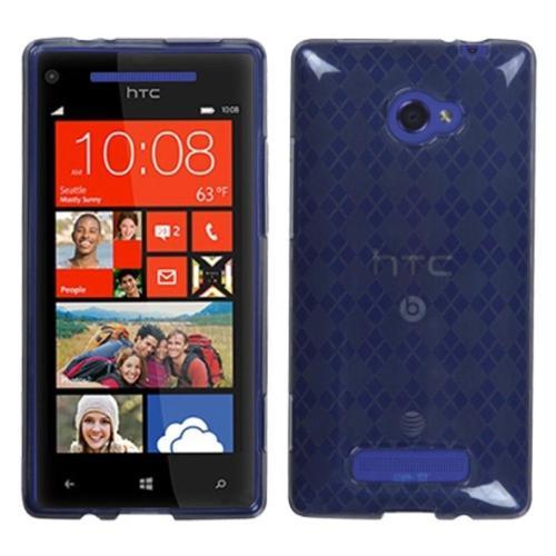 Insten Smoke Argyle Candy Skin Case for HTC: Windows Phone 8X, 6990LVW (Windows 8X)