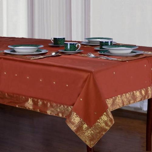 Indian Selections Handmade Rust Sari Table Cloth (India)