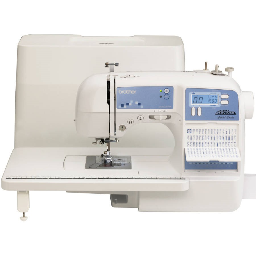 Limited Edition Project Runway Sewing Machine with 100 Built-In Stitches and Quilting Table, XR9500PRW