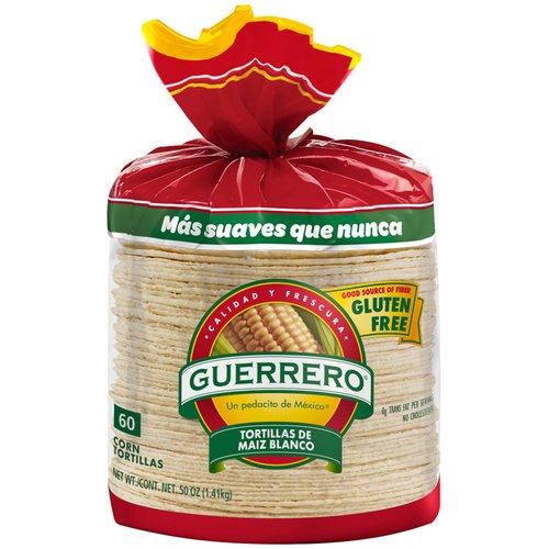 Guerrero White Corn Tortillas, 60 ct