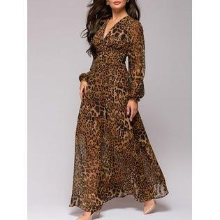 Women Leopard Printed Long Sleeved -
