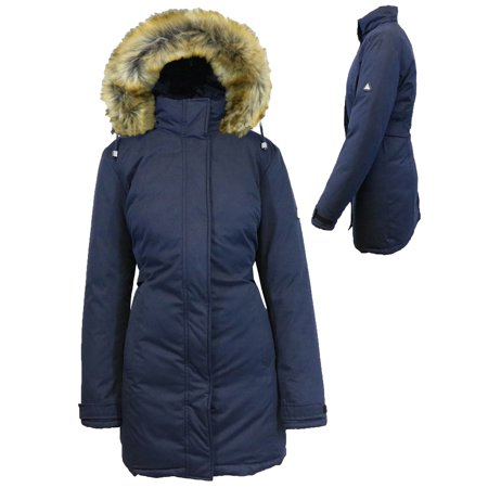 Women's Heavyweight Parka Jacket With Detachable - Black Wet Weather Parka