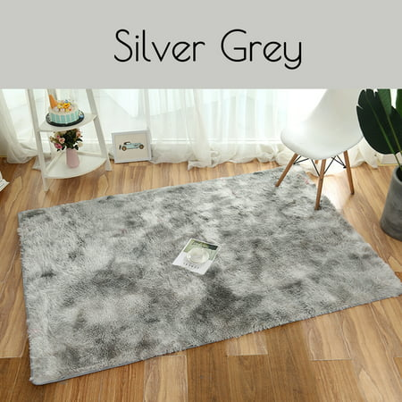 Washable Super Soft Indoor Modern Shag Area Silky Smooth Fur Rugs Fluffy Rugs Anti Skid Shaggy Area Rug Dining Room Home Bedroom Carpet Floor Mat