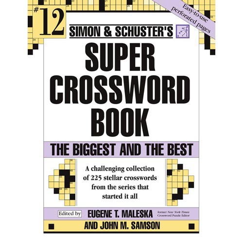 Simon and Schuster Super Crossword Puzzle Book 12