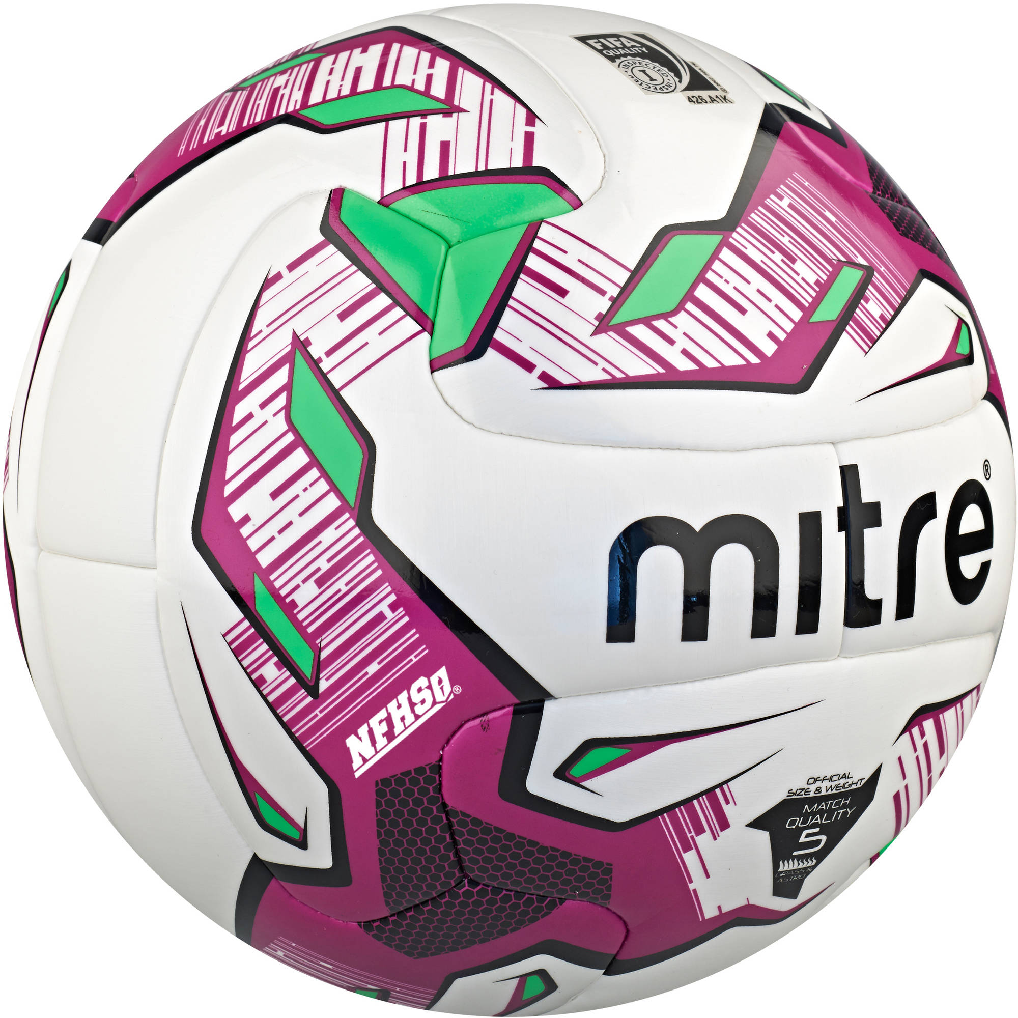 Mitre #5 Manto V12S NFHS Hyperseam Soccer Ball