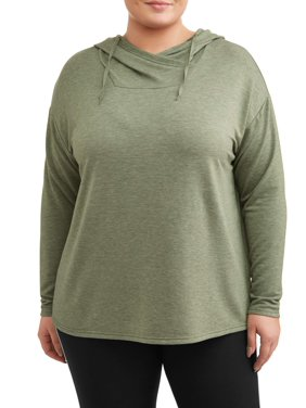 09b26380d9a2 Product Image Women s Plus Size French Terry Tunic Hoodie