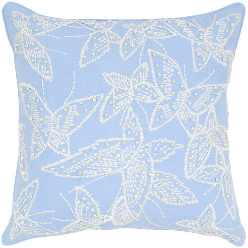 India's Heritage Butterfly Embroidery Pillow