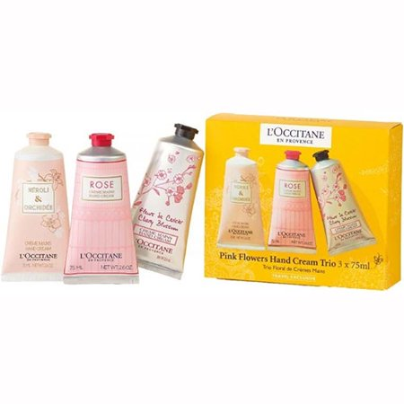 LOccitane Pink Flowers Hand Cream Trio Hand Cream Trio