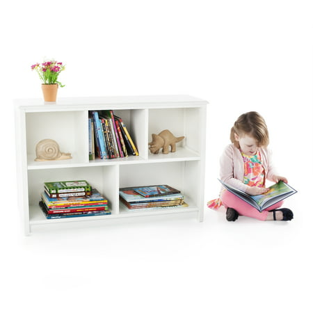 Guidecraft Classic Kids Bookshelf 2 Tier Multiple Colors