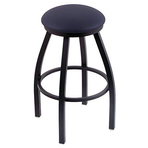 "XL 802 Misha 25"" Counter Stool w/ Black Base Finish - Allante Dark Blue Seat"