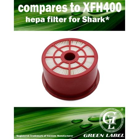 HEPA Filter for Shark NV400 Vacuum Cleaners (compares to XFH400). Genuine Green Label Product