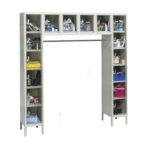 Hallowell Safety-View 6 Tier Plus 16-Person Locker