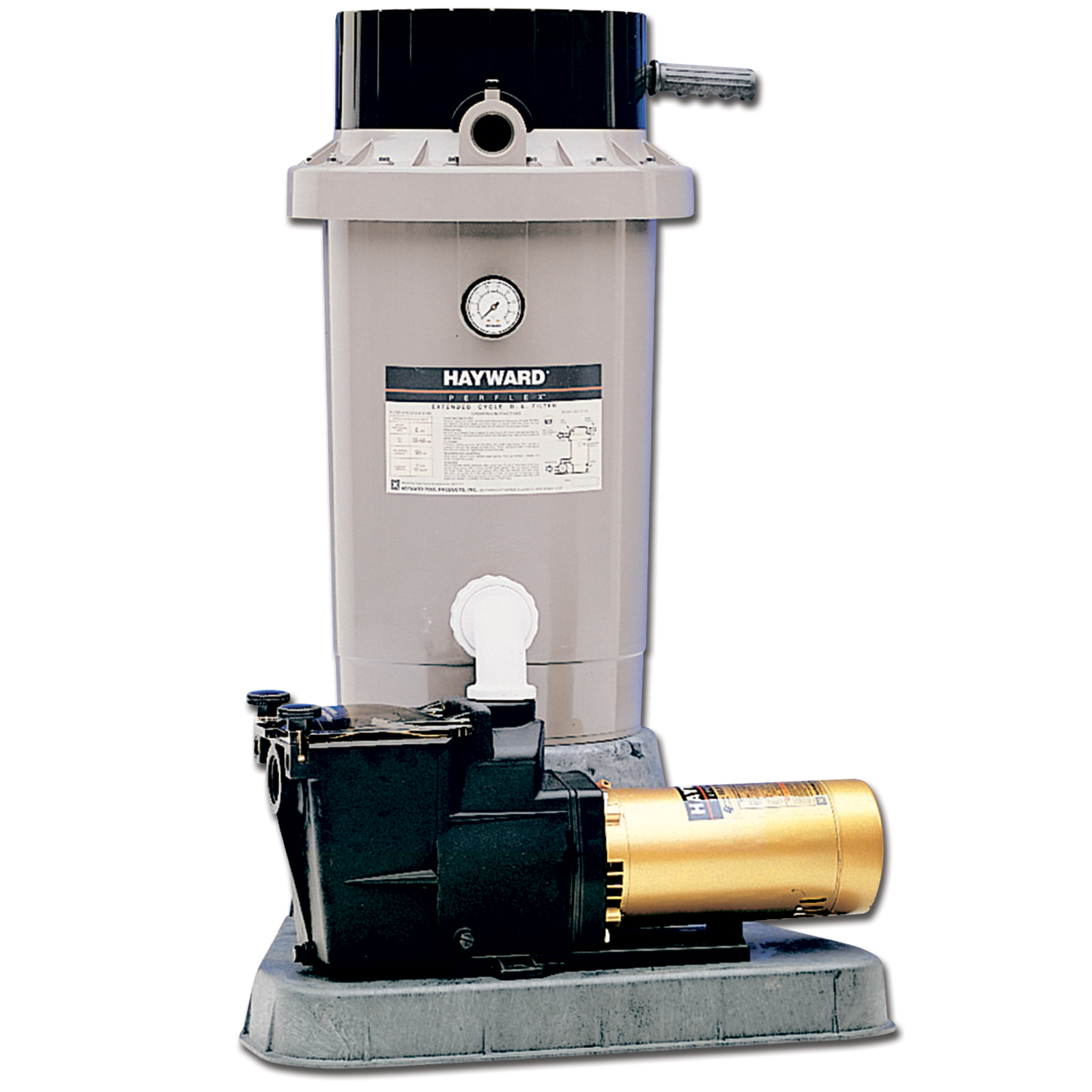 Hayward EC75 Extended Cycle DE In Ground Pool Filter System with 1 HP Pump