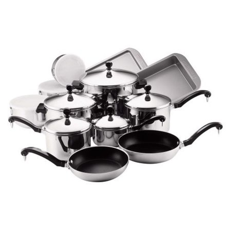 Farberware Stainless Steel Classic Cookware - Farberware Classic Series Stainless Steel 17 Piece Cookware Set