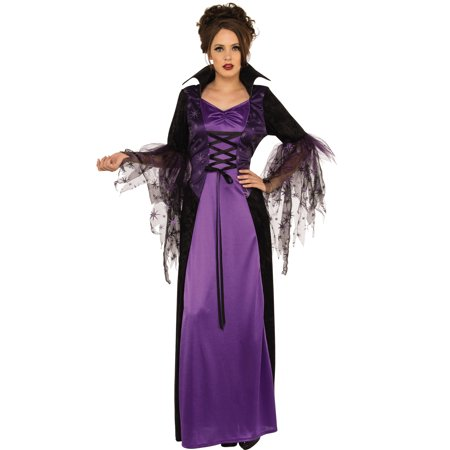 Enchanting Vampire Women Gothic Purple Witch Halloween Costume-Std - Women Vampire