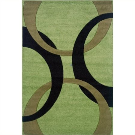 "Hawthorne Collection 1'11"" x 2'10"" Kids Area Rug in Lime and Black - image 1 of 1"