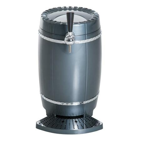 (HOMCOM 10 Liter Mini Kegerator Beer Cooler Dispenser Lightweight Car -Grey)