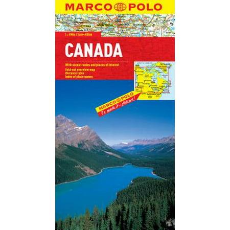 Marco polo canada - folded map:
