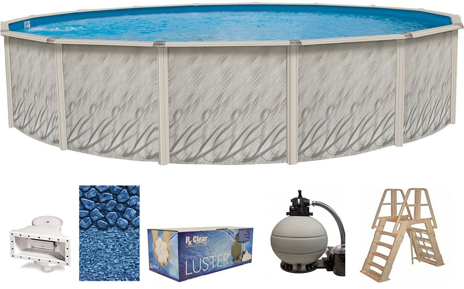 Meadows Oval Above-Ground Swimming Pools | Full Start-Up Kit {Choose Size} by