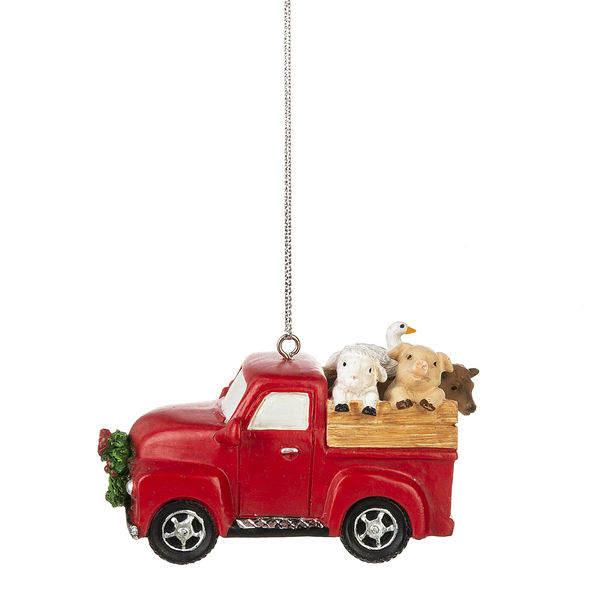 RED BARN WITH FARM ANIMALS Christmas Ornament by Kurt Adler