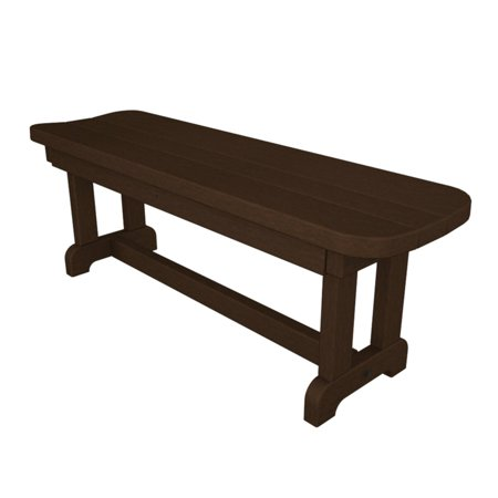 POLYWOOD® Park 4 ft. Recycled Plastic Backless Park (Backless Park Bench)