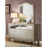Furniture Of America Malayah Dresser And Mirror Set Silver